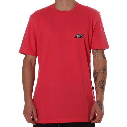 Camiseta Lost Logotypo Coral