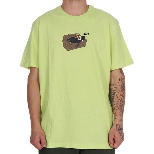 Camiseta Lost Pizza At Sofa Verde Lima