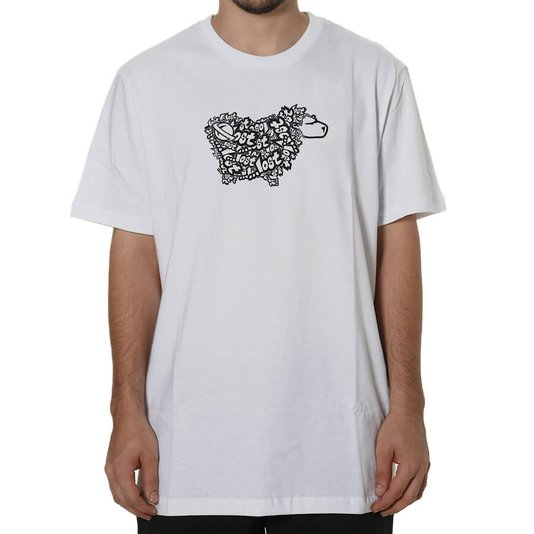 Camiseta Lost Sheep Logo Oversized Branco
