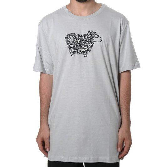 Camiseta Lost Sheep Logo Cinza