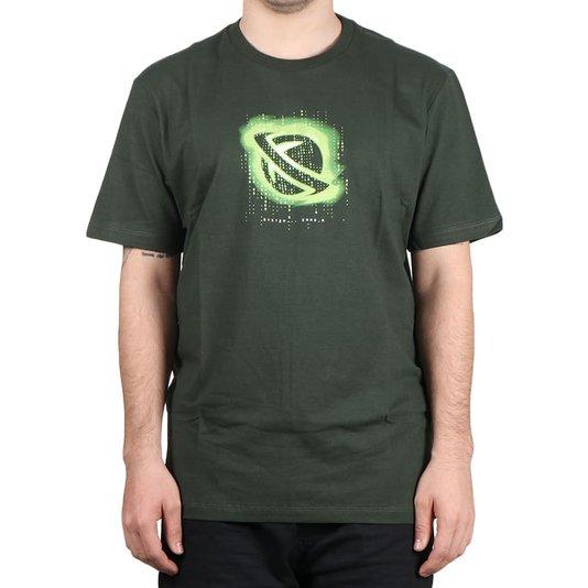 Camiseta Lost  System Error Verde Escuro