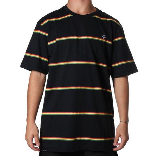Camiseta Lrg Irie Preto/Rasta