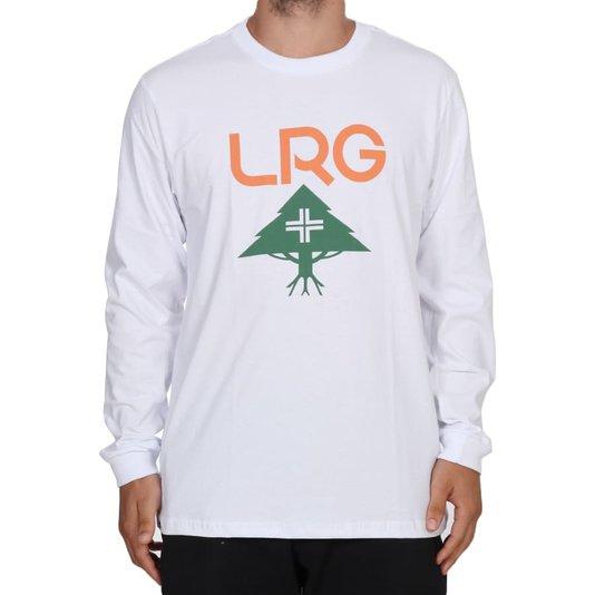 Camiseta Lrg Logo Stack Manga Longa Branco