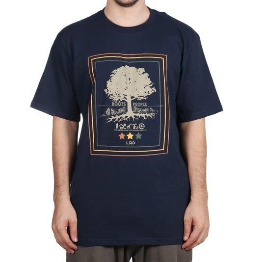 Camiseta Lrg Roots People Azul Marinho