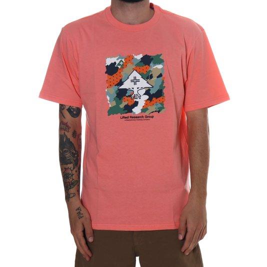 Camiseta Lrg Scribble  Salmão