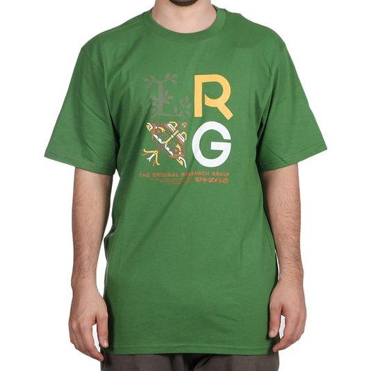 Camiseta Lrg Stacked Verde Folha