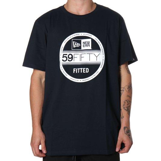 Camiseta New Era Basico Essentials Selo Azul Marinho