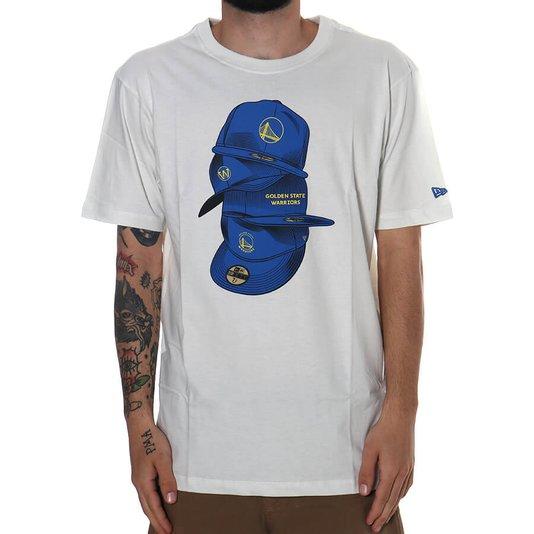 Camiseta New Era Caps Golden State Warriors Branco