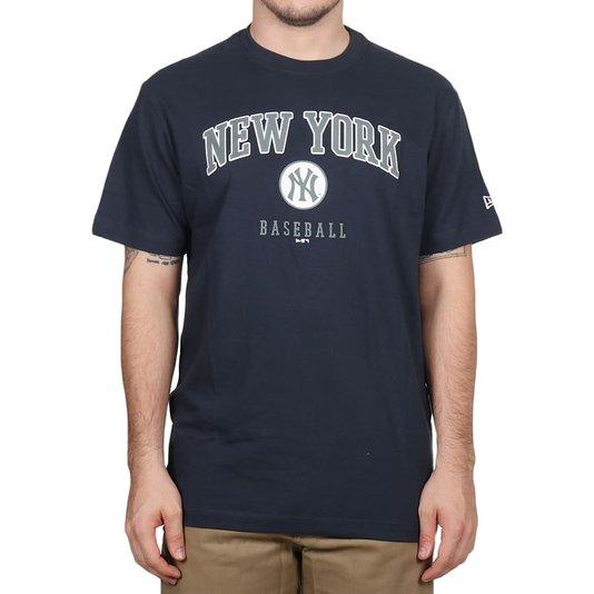 Camiseta New Era Ny Wordmark Azul Marinho