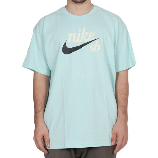 Camiseta Nike Sb Logo Classic Verde Agua Claro