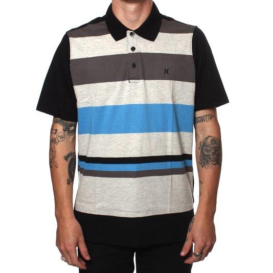 Camiseta Polo Hurley Atorm Preto/Cinza