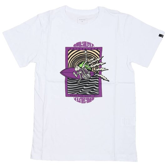 Camiseta Quiksilver Chasing Vision Infanto - Juvenil Branco