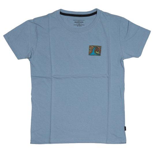 Camiseta Quiksilver Drive Blind Infanto - Juvenil Azul Claro