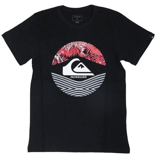 Camiseta Quiksilver On Filter Infanto - Juvenil Preto