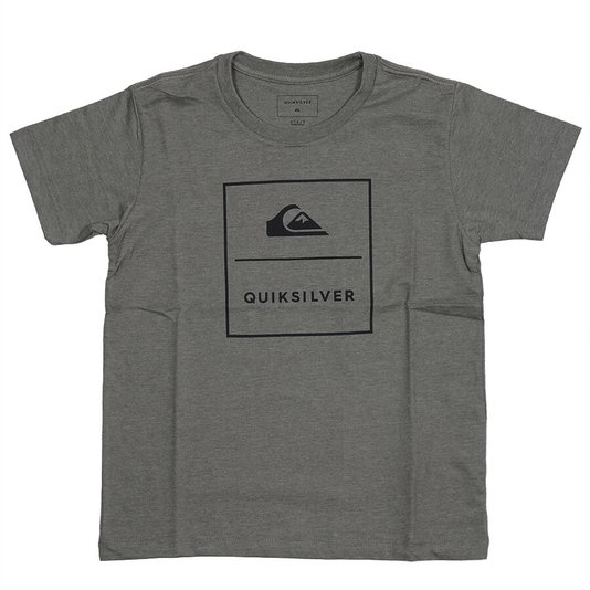 Camiseta Quiksilver Simple Track Infanto - Juvenil Verde Mescla