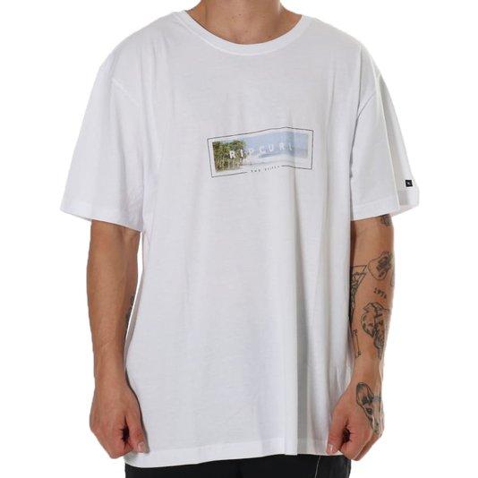 Camiseta Rip Curl Framed Tee White Branco