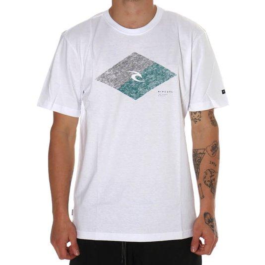Camiseta Rip Curl Icon Diamond Branco