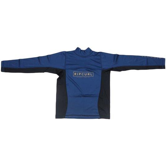 Camiseta Rip Curl Lycra Boys Drive Azul Marinho