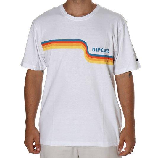 Camiseta Rip Curl Revival Stripe Branco