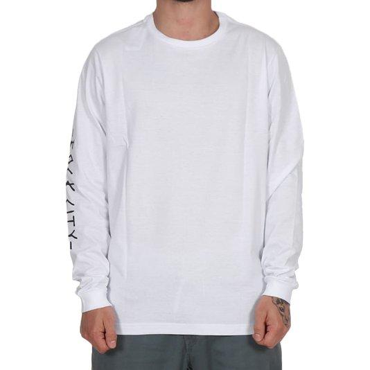 Camiseta Rock City 10 Years Bowlriders Marco Iglesias M/L Branco