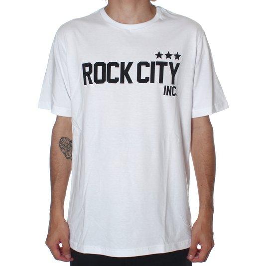 Camiseta Rock City Army 3 Estrelas Nac. Branco