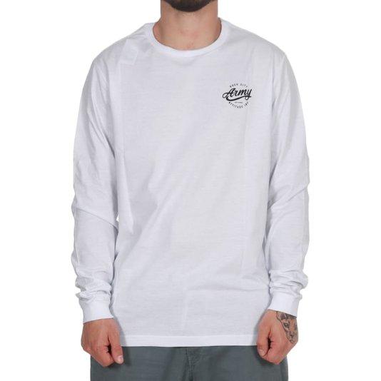 Camiseta Rock City Army Attitude Inc. M/L Branco