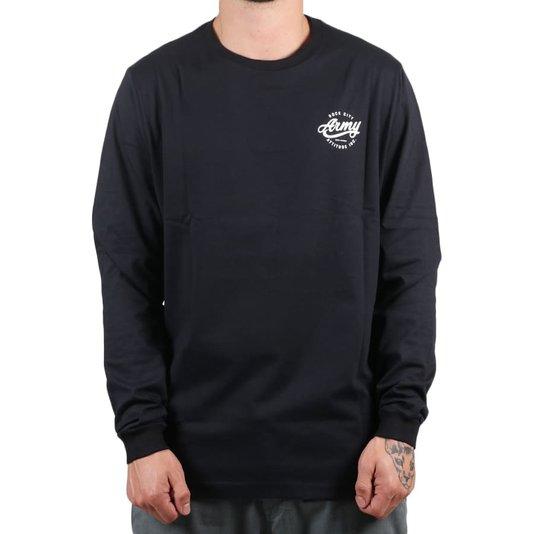 Camiseta Rock City Army Attitude Inc. M/L Preto/Branco