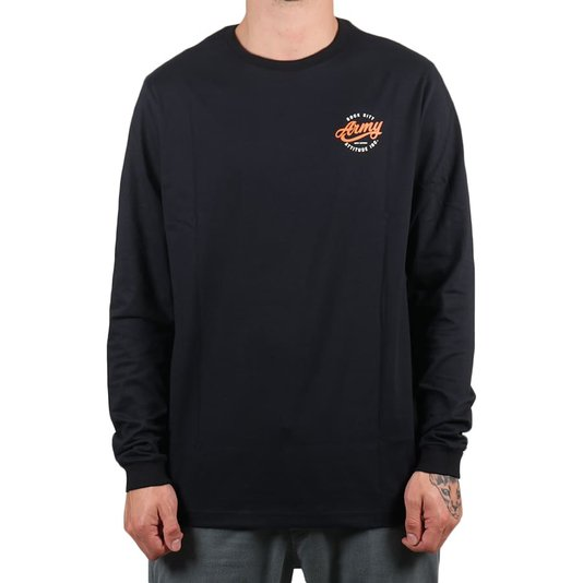 Camiseta Rock City Army Attitude Inc. M/L Preto/Laranja