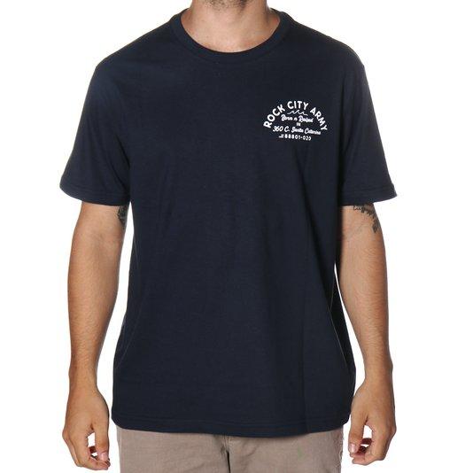 Camiseta Rock City Army Born N Raised Azul Marinho