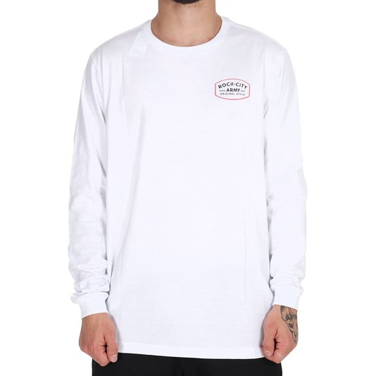 Camiseta Rock City Army Original Style M/L Branco