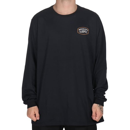 Camiseta Rock City Army Original Style M/L Preto