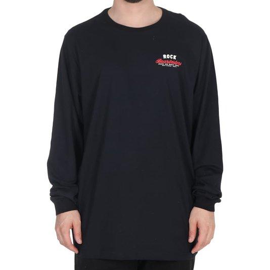 Camiseta Rock City Boardriders Board And Music M/L Preto