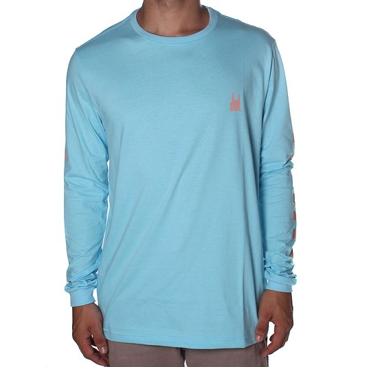 Camiseta Rock City Check-Er Azul Água