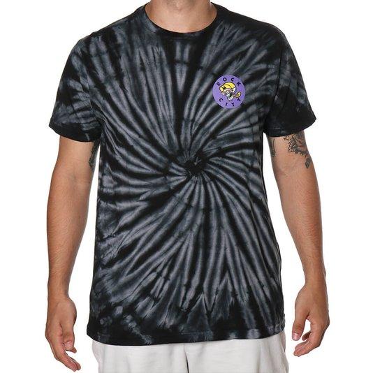 Camiseta Rock City Good Times Tie Dye Preto/Branco