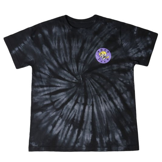 Camiseta Rock City Good Times Tie Dye Infanto - Juvenil Preto/Branco