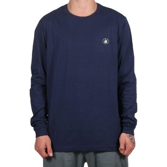 Camiseta Rock City Icon Básica M/L Azul Marinho