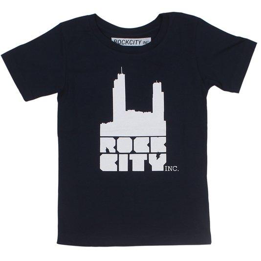 Camiseta Rock City Logo Infantil Azul Marinho