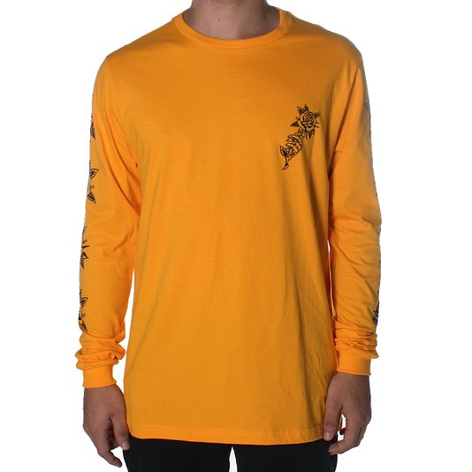 Camiseta Rock City Marchioro Flor Amarelo