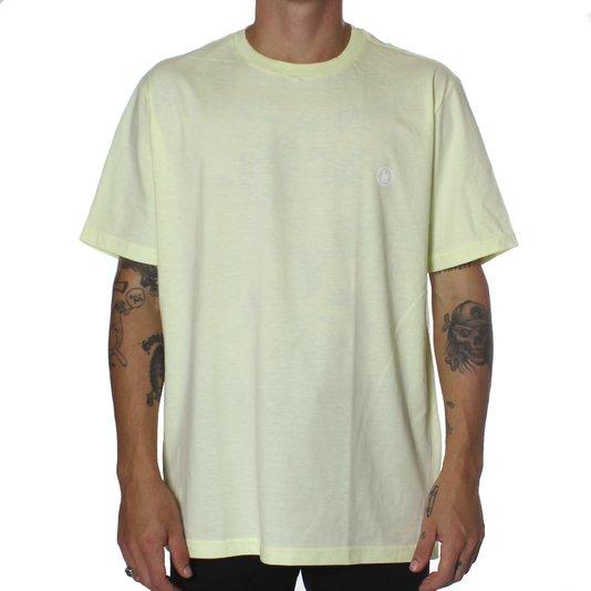 Camiseta Rock City Mini Logo Nac. Amarelo