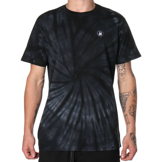 Camiseta Rock City Tie Dye Icon Preto/Branco