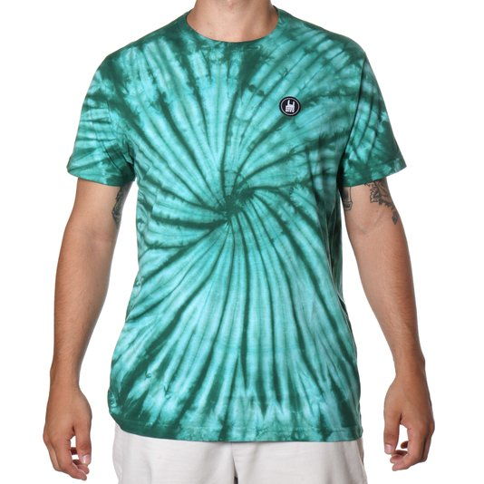 Camiseta Rock City Tie Dye Icon Verde/Branco