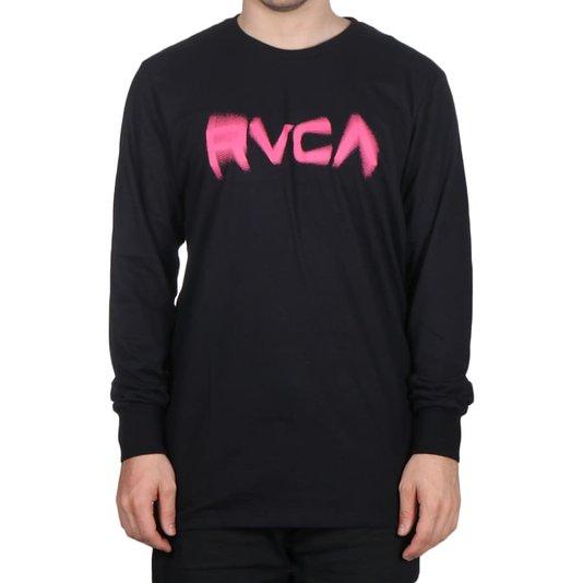 Camiseta Rvca Blurs M/L Preto