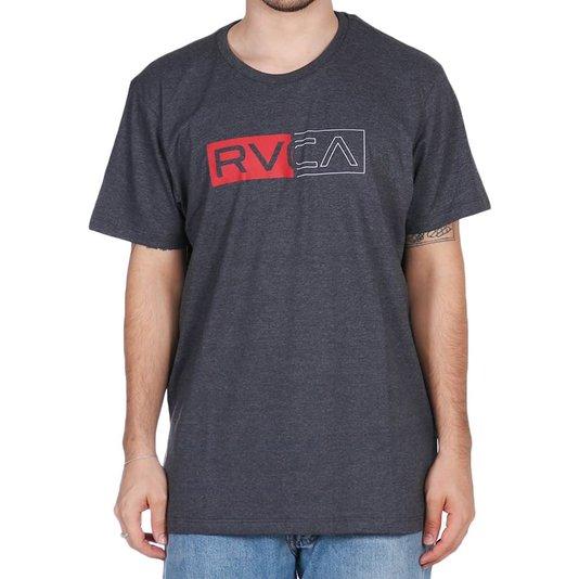 Camiseta Rvca Divider Cinza Mescla Escuro