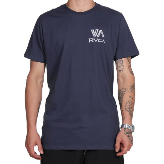 Camiseta Rvca Dry Brush Azul Marinho