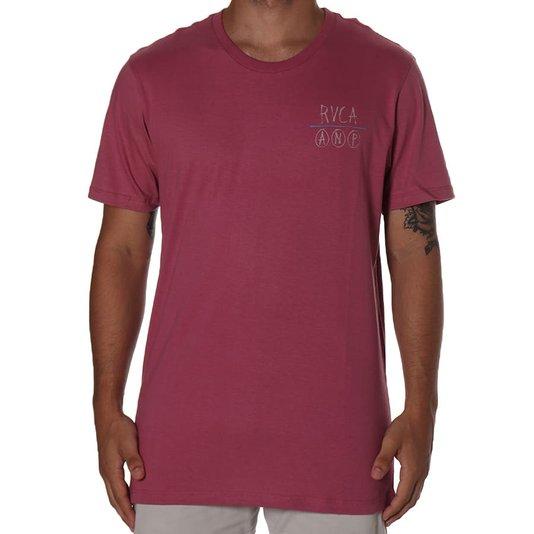 Camiseta Rvca Horton Anp Rosa Envelhecido