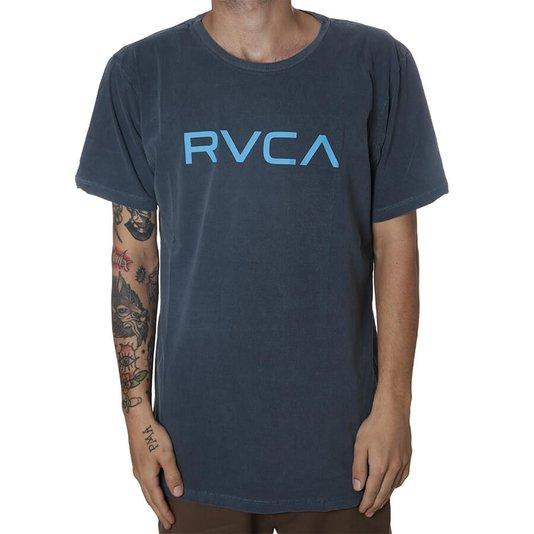 Camiseta RVCA Washed Logo Azul
