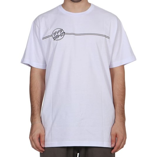 Camiseta Santa Cruz Bogus Hand Branco