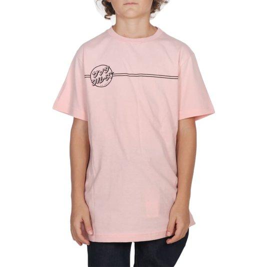 Camiseta Santa Cruz Bogus Hand Juvenil Rosa Claro