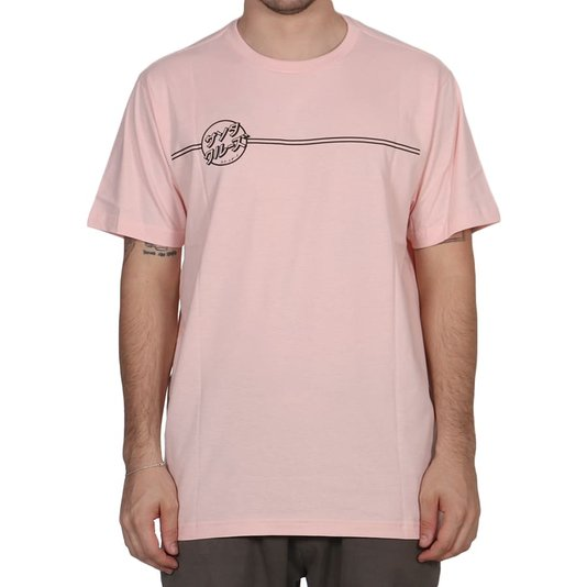 Camiseta Santa Cruz Bogus Hand Rosa Claro
