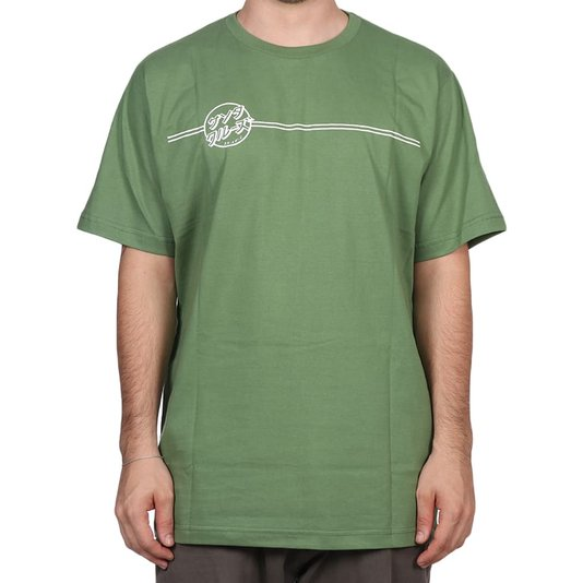 Camiseta Santa Cruz Bogus Hand Verde